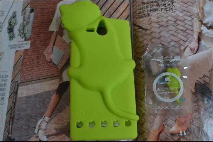 Deer cat silicon soft cover case for Sony Xperia U ST25i cover back phone case(China (Mainland))
