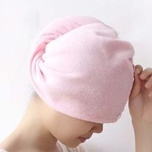 1Pcs Hair Quick Drying Bath Towel Sauna Spa Tub Cap Head Wrap Shower Bath Caps(China (Mainland))