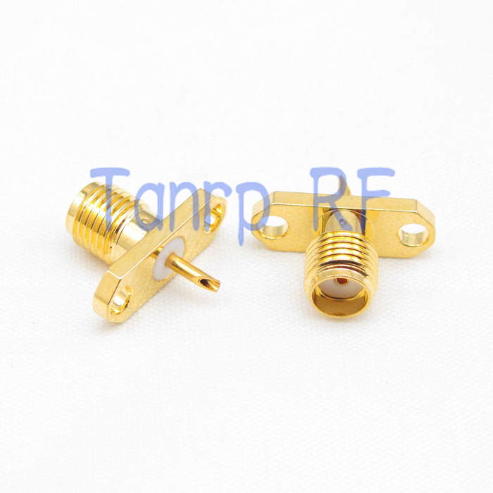 10PCS SMA female 2 hole Chassis panel Mount extended dielectric solder connector  wholesale<br><br>Aliexpress