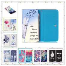 2016 Beautiful Painting Leather Protect Phone Cases For HP Slate 6 VoiceTab II With Card Wallet And Slot Back Cover Case(China (Mainland))
