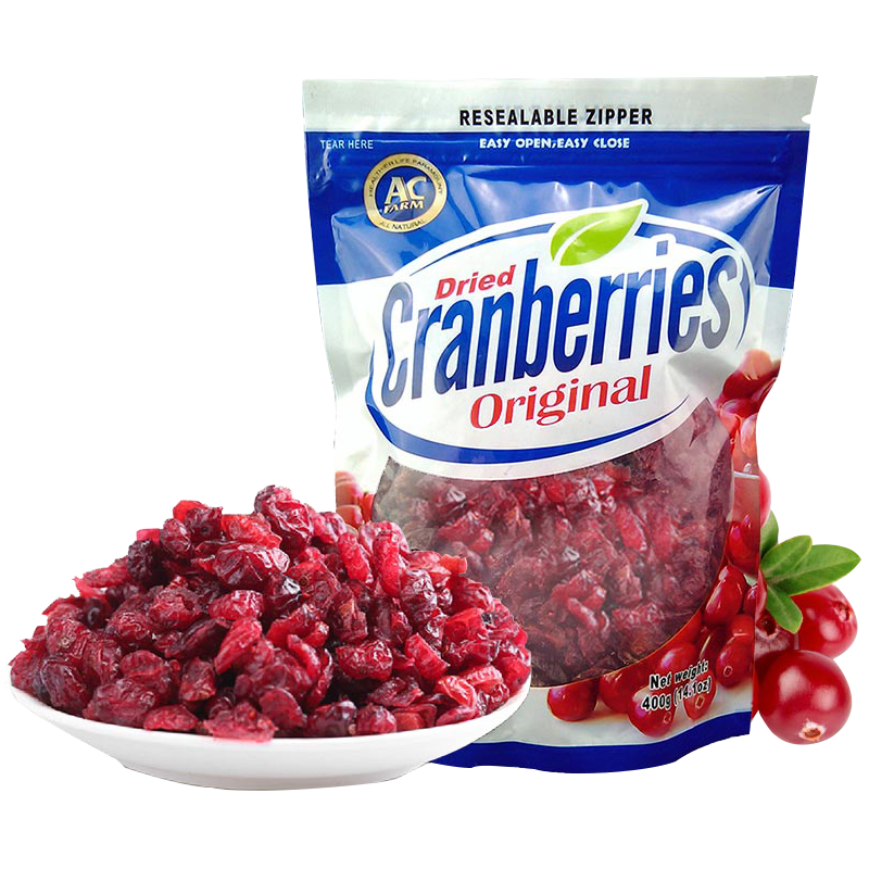 The United States imported Acfarm with farm cranberry dry 400 g zero fat green food dried fruits food health and beauty(China (Mainland))