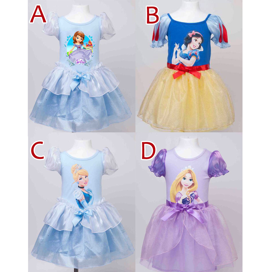 2016 High Quality Baby Girl Dress Snow White dress princess dress party dress pink white(China (Mainland))