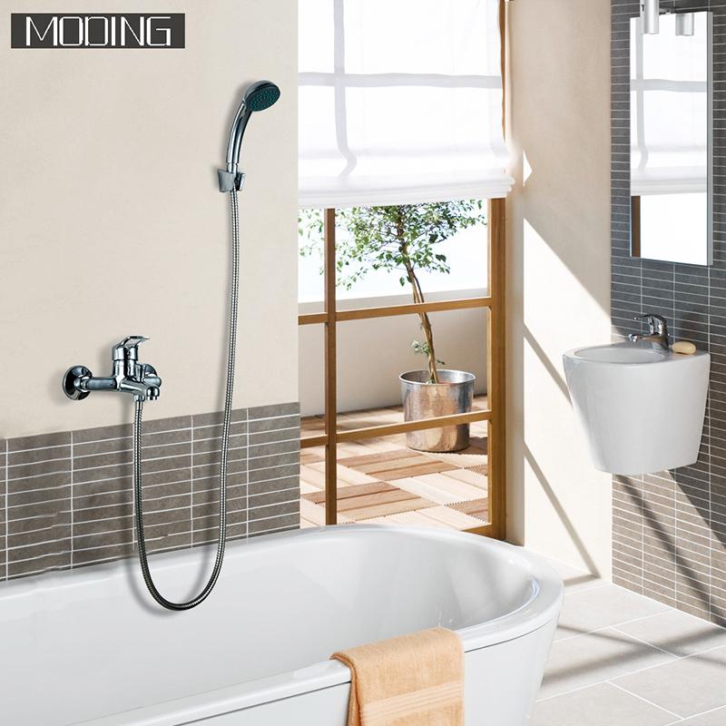 MODING 2017 Bathroom Bath Faucet Shower Faucet Bathtub Shower Brass Material Polish Chrome Shower Mixer #MD30701-B(China (Mainland))