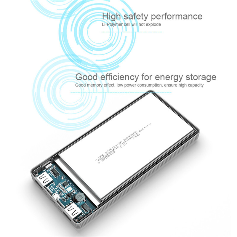 PN969 Power Bank Portable Dual USB Phone Charger Battery External For Huawei Xiaomi Universal USB Powerbank for iPhone 5 5s 6 6s