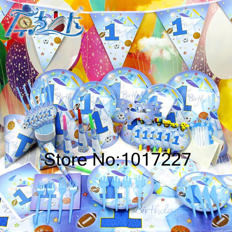 78pcs kids birthday party decoration set 1 years old boy for 1 year birthday decoration