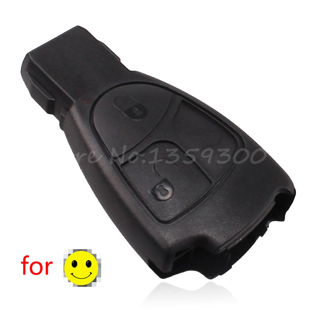 10pcs/lot replacement 3buttons remote key shell with soft button for benz MB smart key case cover 3 button with logo(China (Mainland))