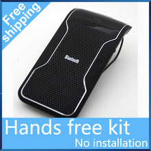Free Shipping New Wireless Bluetooth Hands free Speakerphone Handsfree Car Kit With Car Charger Bluetooth Hands free Kit