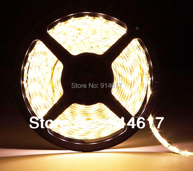 Free Shipping New 5m SMD 3528 Flexible IP65 Waterproof 600 LED Strip Light Cool White Warm White(China (Mainland))