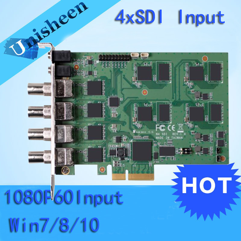 PCI Express HD Video Capture Card 1080p - 4 Channel SDI Real Time(China (Mainland))