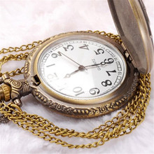 Fashion Good Quality Poker Pattern Style Quartz Necklace Pendant Chain Clock Pocket Watch Free Shipping(China (Mainland))