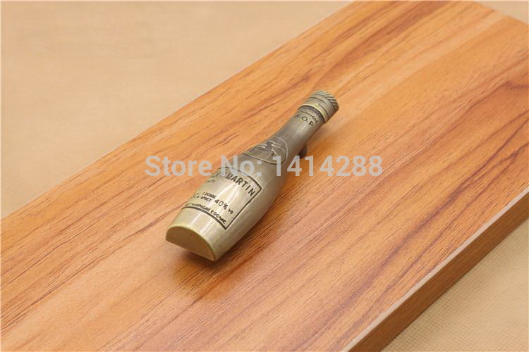 New wine bottle shape cabinet handle Kitchen Furniture handle antique drawer handle 103mm Free Shipping(China (Mainland))