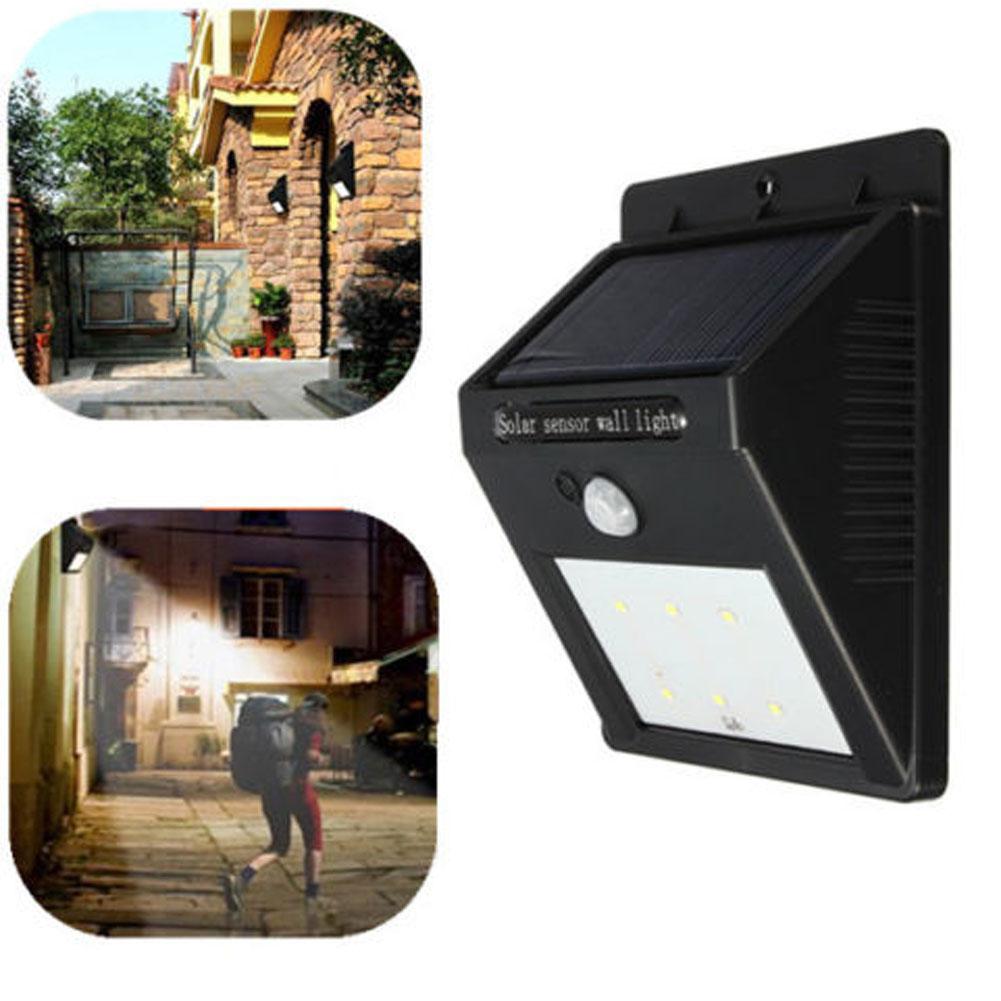 Hot item! 1Pc 6LED Solar Power PIR Motion Sensor Wall Light Outdoor Waterproof Garden Lamp(China (Mainland))