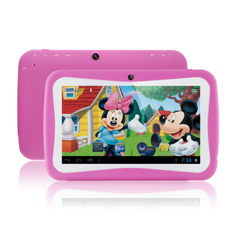7 inch quad Core Children Kids Tablet PC RK3126 PAD Android 4.4 MID Dual Cam & Educational Games App Birthday Christmas Gift(China (Mainland))