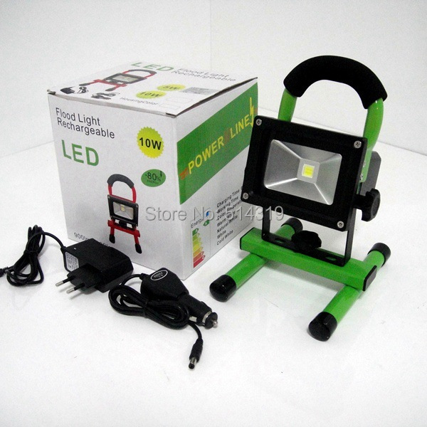 Cordless portable hand-carry rechargeable 10W IP65 waterproof outdoor LED Flood light, emergency light with battery, 1pc/lot<br><br>Aliexpress
