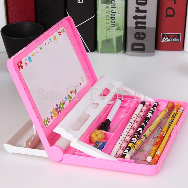 Multi-Function Ipad Pencil Case Stationery bag Boys Girls Bookshelf +Drawing Board +The Brush Pencil Case office school supplies(China (Mainland))