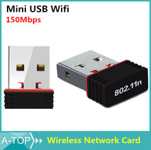 Mini USB WIFI 150M Wifi Adapter 802.11n/g/b Wi Fi Antenna 150Mbps Wireless LAN Network Card External USB wifi for Desktop Laptop(China (Mainland))