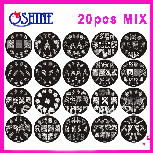 Search on aliexpress by image 20pcs diameter 70cm nail art stamping design image mix designs no repeat nail discs free shipping prinsesfo Images