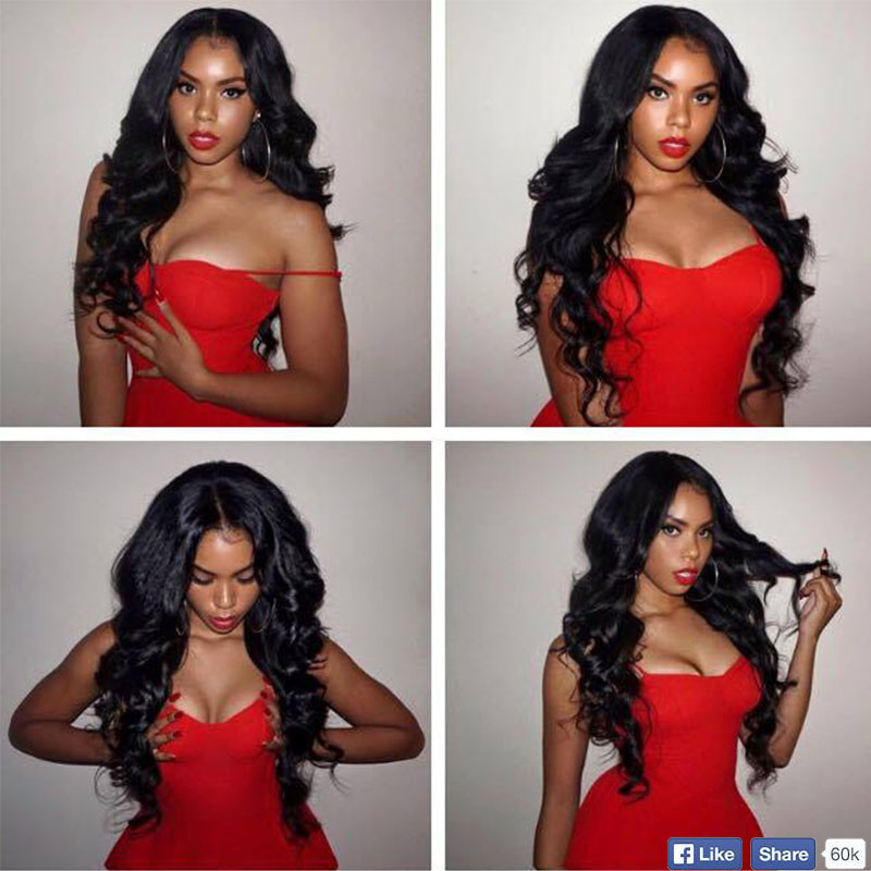 Hot Hair No.2 Indian Virgin Hair Full Lace Wig Body Wave 4# Color Bleached Knots Lace front  Wigs With Baby Hair In Stock<br><br>Aliexpress