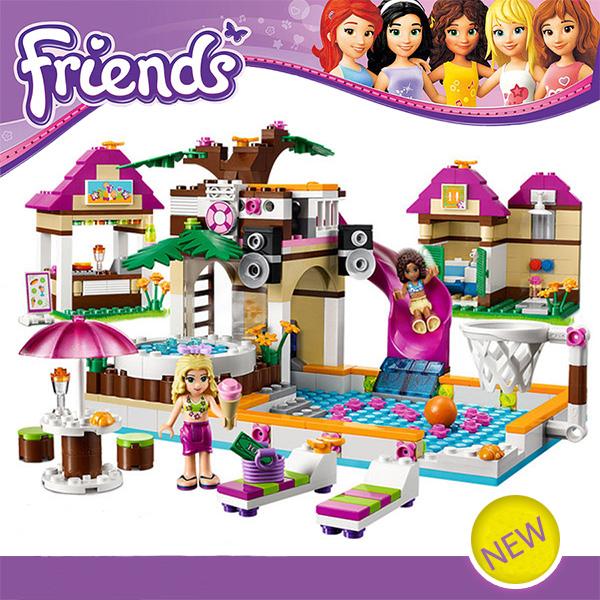 Bela 10160 Building Blocks Friends Heartlake City Pool Construction Educational Brick Toys Girls Compatible Lego Bricks