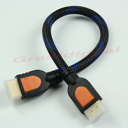 J34 New 1080P V1.4 HDMI Male to HDMI Male Converter Connector Adapter Cable Cord Free Shipping(China (Mainland))