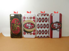 Free Shipping Painting Printed NFL San Francisco 49ers White Plastic Hard Skin Cover For Apple iphone 5C Mobile Cell Phone Case