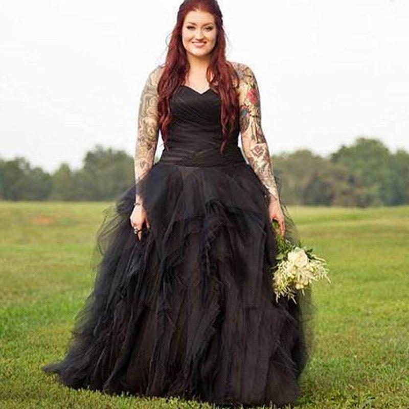 Popular plus size gothic wedding gowns buy cheap plus size for Plus size gothic wedding dress