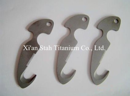 Buy Titanium Ti alloy Diving Knife Line Cutter  Dive Knives rustproof anti-corrosion 180g/pc cheap