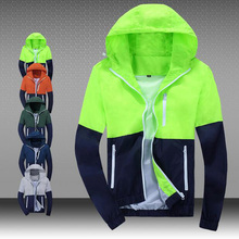 2016 Hot Sales Men Sunscreen Jacket High Quality Men's Outdoor Casual Jacket 5 Color Hooded Zipper Jacket Free Shipping(China (Mainland))
