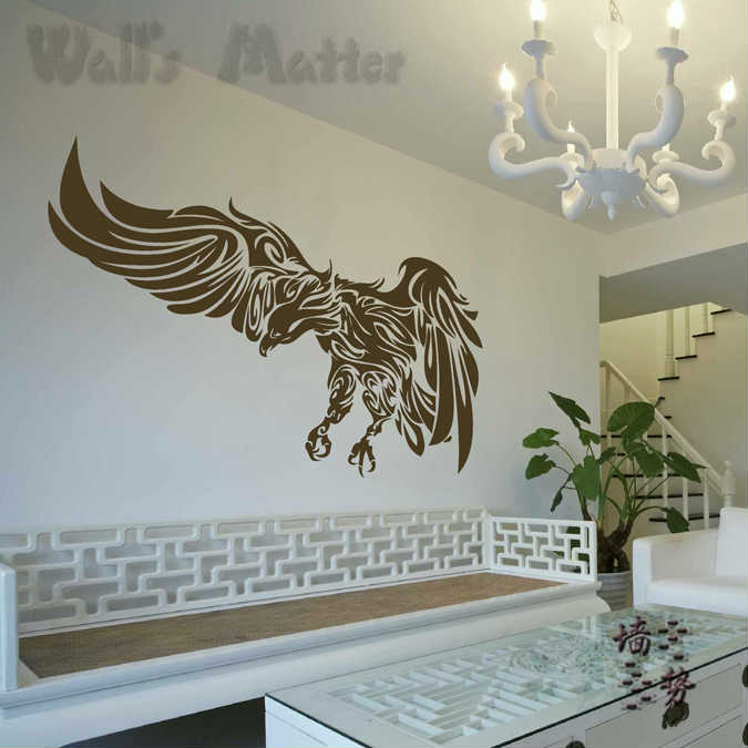 Popular hawk decals buy cheap hawk decals lots from china for Eagle wall mural