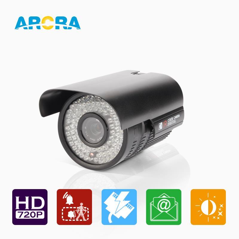 ARCRA 1MP 1280*720P Power Over Ethernet POE Video Camera IP66 Waterproof night vision Onvif Surveillance Camera /Black(China (Mainland))