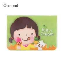 Buy Osmond Cute Women PVC Card Holder 12 Interlayers Character Girl Bifold ID Credit Cards Organizer Portable Mini Case Kids for $1.12 in AliExpress store