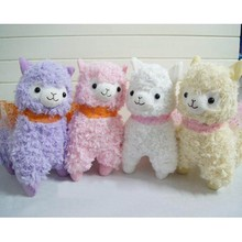 10pc/Lot 4 Colors 17cm Good Night Alpaca Japan Alpacasso Arpakasso Plush Stuffed Doll, Kids Alpaca Christmas Gifts Toy WJ285