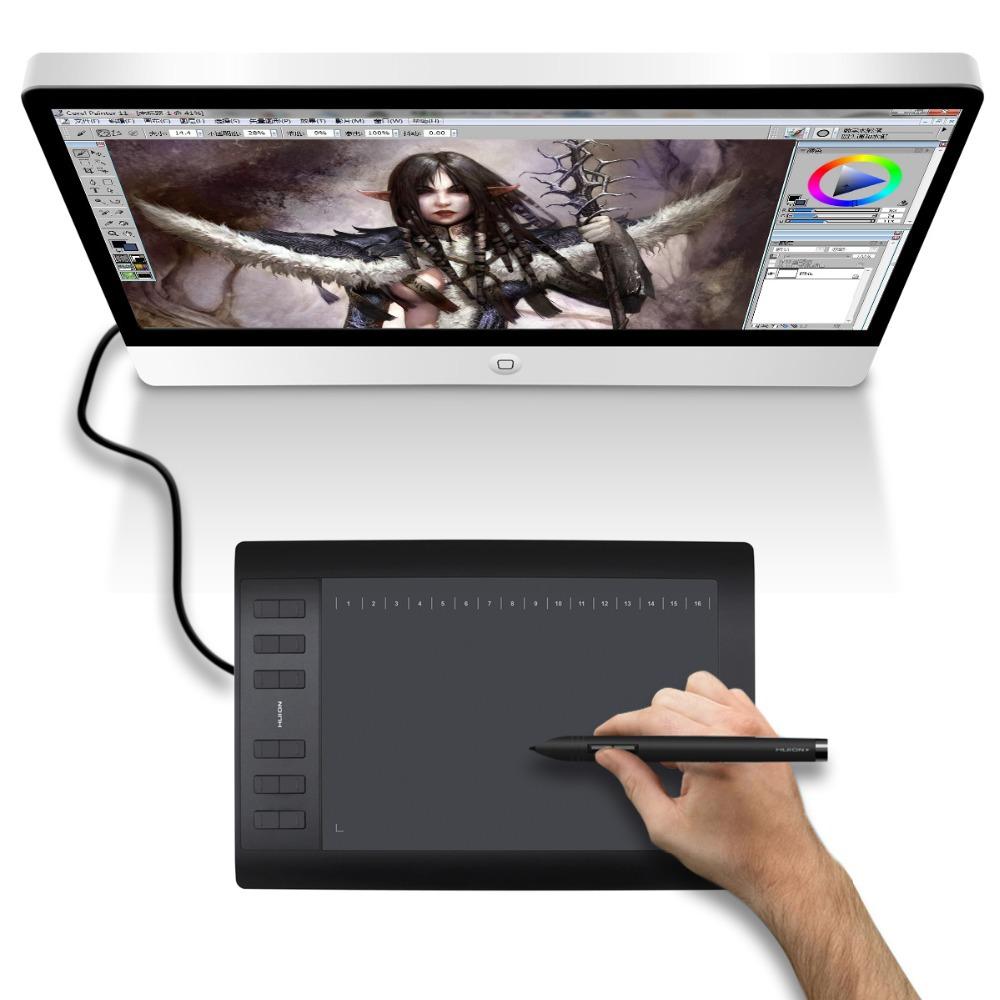 Promotion Huion 1060PLUS 10-Inch Digital Tablets Signature Pen Tablet Professional Animation Drawing Board Tablets Free Shipping(China (Mainland))