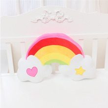 Buy 35*52 CM Rainbow Plush Toys Creative Soft Plush Toy Doll Cartoon Kawaii Children Baby Kids Toy Gift Pikachu Stuffed Plush Doll for $15.68 in AliExpress store