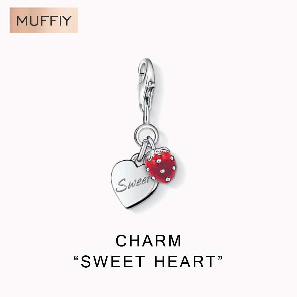Sweet Heart And Strawberry Cute Charm,DIY TMS Style Charm Good Jewelry For Women,Ts Gift In Silver Fit Bag Bracelet(China (Mainland))