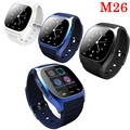 2016 M26 Bluetooth Smart Watch wristwatch smartwatch with Dial SMS Remind Music Player Pedometer for Android