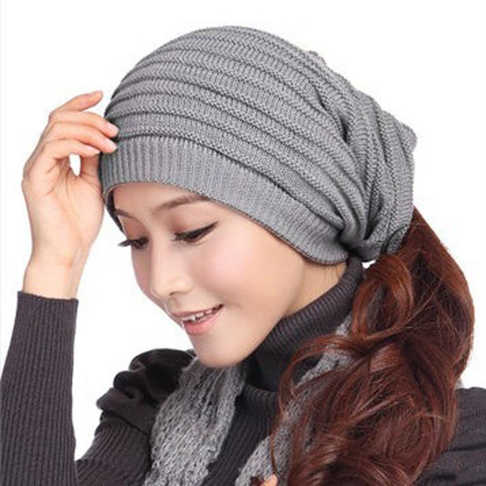 spring & autumn gorros womens beanie hat for women 3 way ...