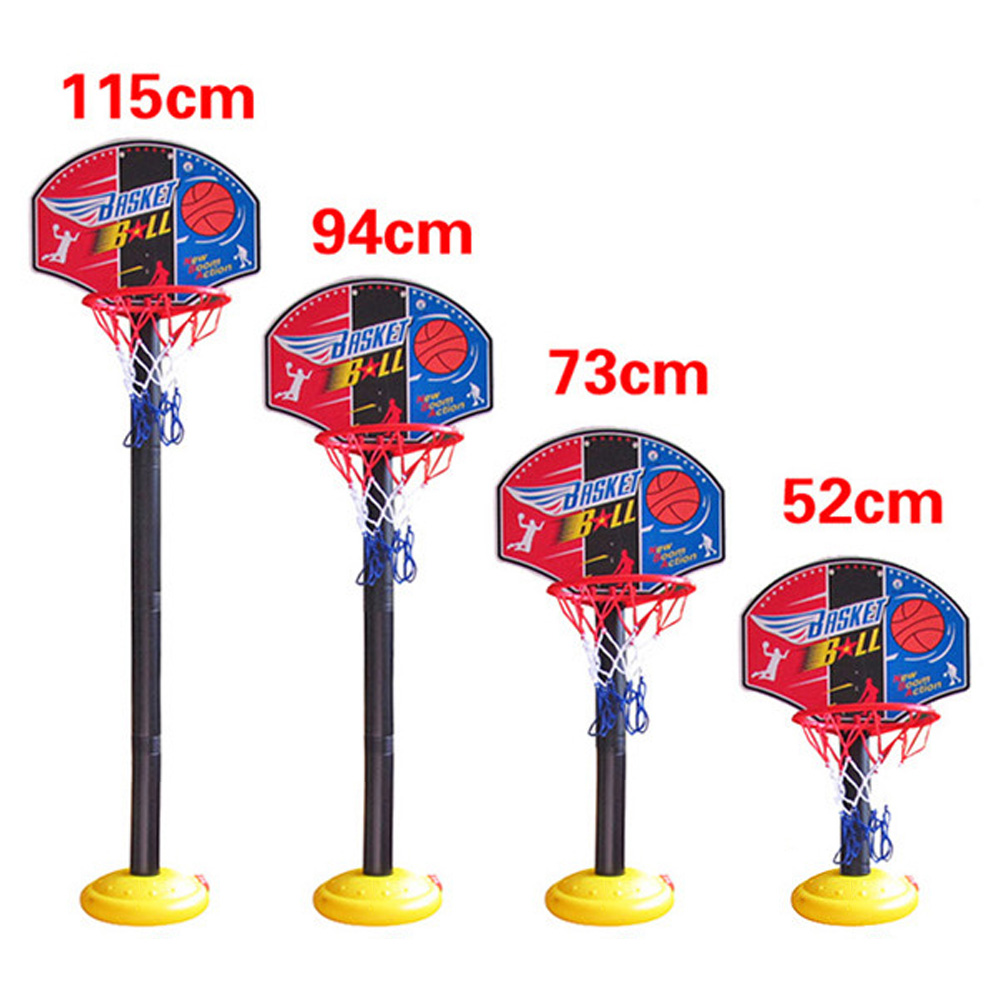 Indoor Outdoor Super Basketball Set Child Fitness Toys Mini Basketball Stand Hoop Backboard Base Tube Inflator for Kids(China (Mainland))