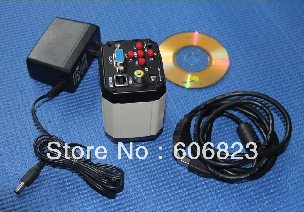 New 2.0MP Microscope Camera VGA CVBS USB 2.0 Output FOR Industrial<br><br>Aliexpress