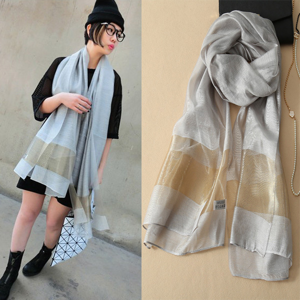 2015 Solid Women From India Cachecol 7color Hot Fashion Brand New Women Scarfs 100% Silk Lady Shawl Scarves Beach Bufandas Hijab(China (Mainland))