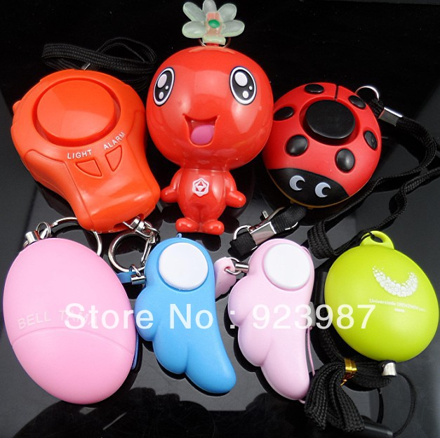 ABS plastic 4pcs/lot women self defense alarm personal protection(China (Mainland))