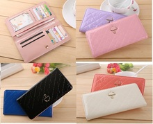 2015 Hot Fashion Sweet Umbrella Women' Wallet Long Purse 12 Cards Holder Protector 8 Colors to Choose Free Shipping