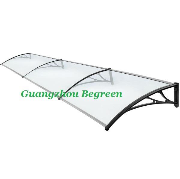 YP100360-ALU 100x360cm 39x140in Elegant polycarbonate front door rain awning(China (Mainland))