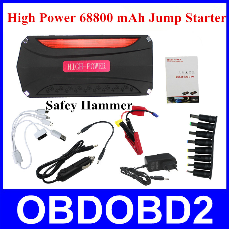 68800mAh 12V Diesel Cars AutoMobile Emergency Power Supply Car Jump Starter Power Bank Car Engine Star Digital Products Charging(China (Mainland))