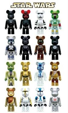 2014 Hot Sale star wars figure action brinquedos Genuine Bearbrick Pepsi Nex Joint Bricks Gloomy / Phone Rope Do Another Shoot(China (Mainland))