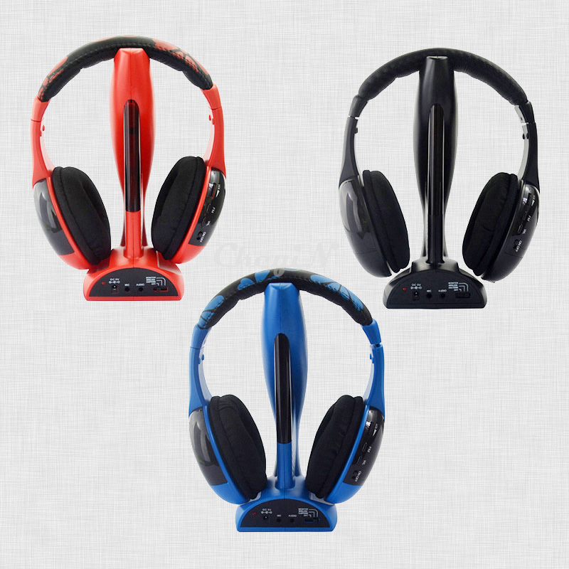 New 6 in 1 Stereo Wireless Headset Gaming Handsfree Cordless Headphones Head Phones For PC Computer TV DVD PS3/4 Etc. CNH13-P56(China (Mainland))