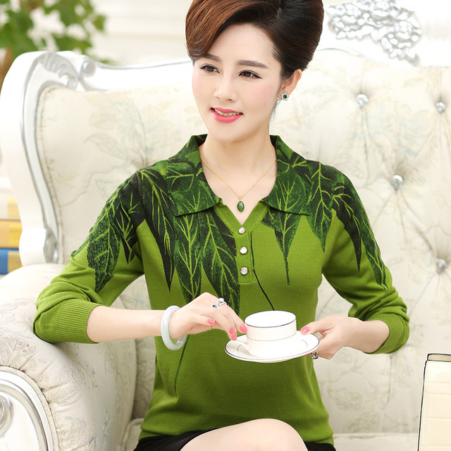 Новый высокое качество Бамбуковых листьев весна осень женщин свитер женская одежда ...