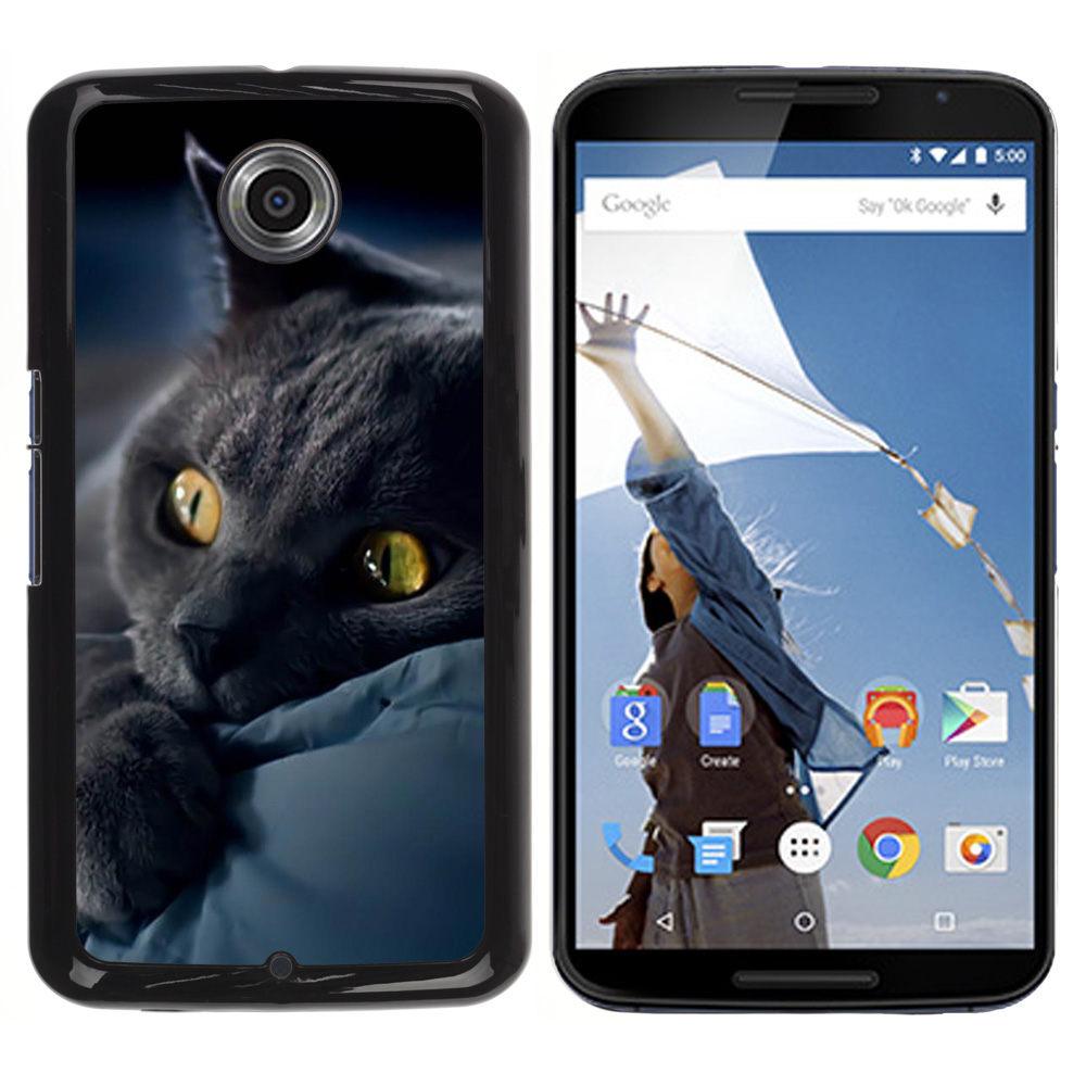 Black Cat Bombay Chartreux Kitten-Snap On Hard PC Back Shell Case For Motorola NEXUS 6 / X / Moto X Pro (NEXUS6-3005336)(China (Mainland))