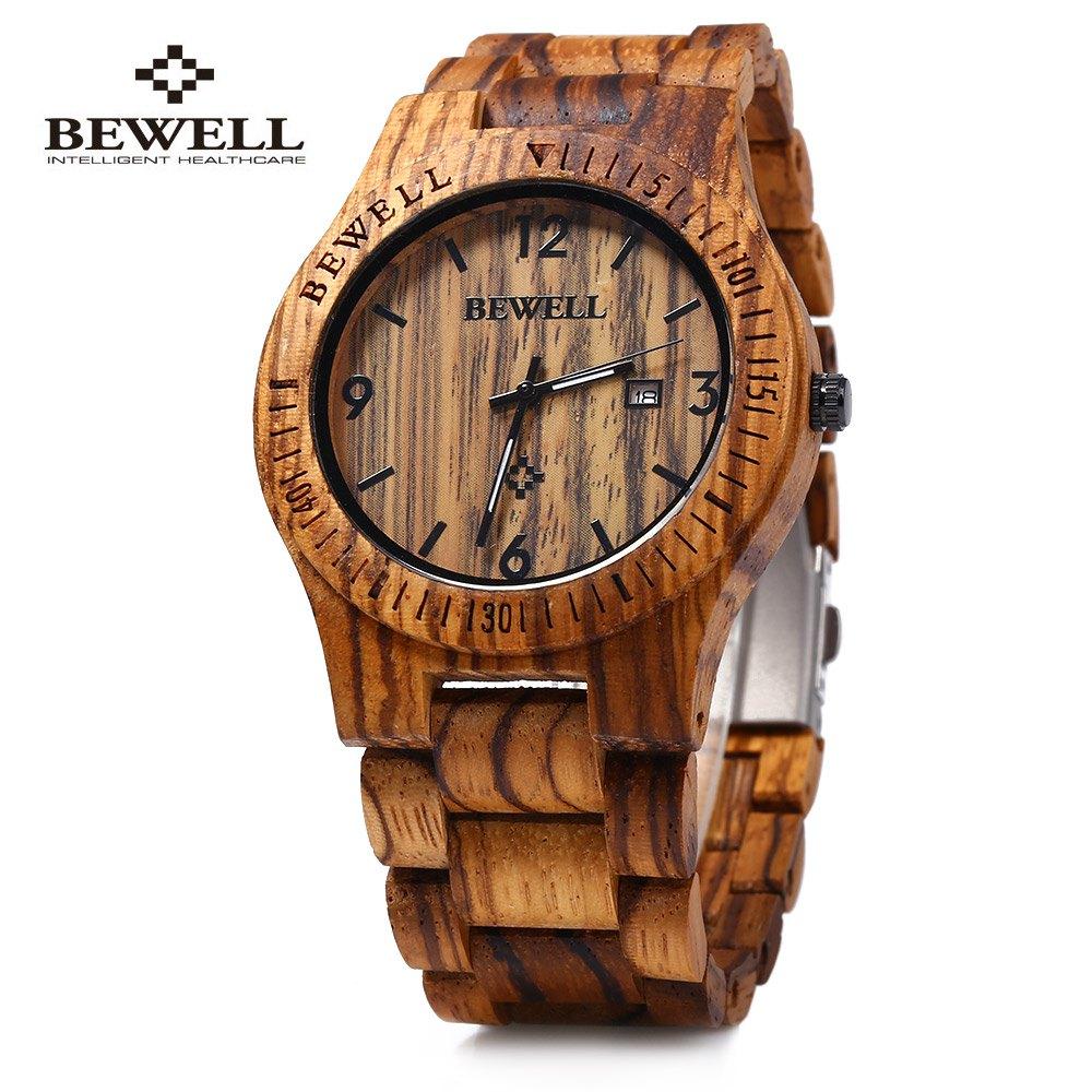 Bewell ZS - W086B Wood Men Watch Analog Quartz Movement Date Display(China (Mainland))