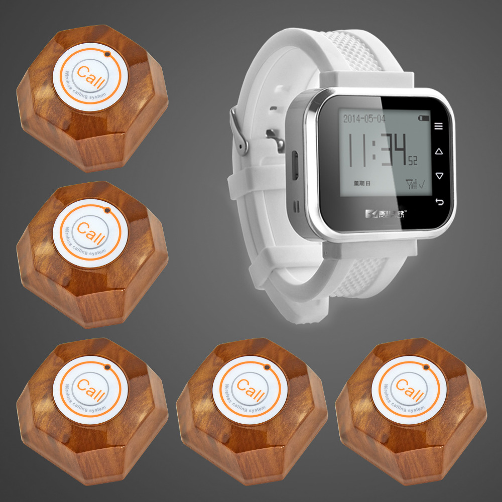 Kerui Wireless Waiter Wrist Pagers Service Calling System for hospital restaurant calling service Wireless Calling launch button(China (Mainland))